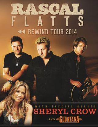 Rewind Tour 2014: Rascal Flatts with Sheryl Crow & Gloriana at Farm Bureau Live