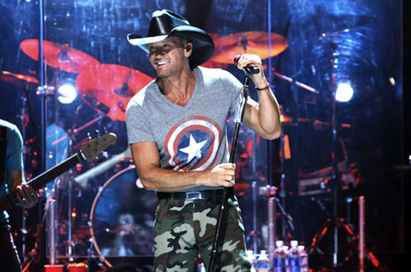 Tim McGraw, Billy Currington & Chase Bryant at Farm Bureau Live