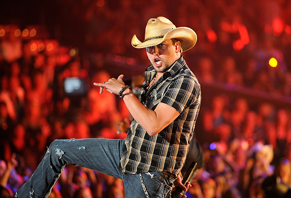 Jason Aldean, Cole Swindell & Tyler Farr at Farm Bureau Live