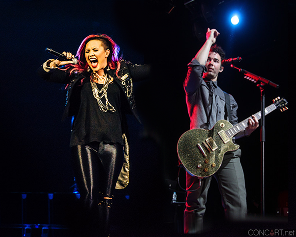 Demi Lovato & Nick Jonas at Veterans United Home Loans Amphitheater