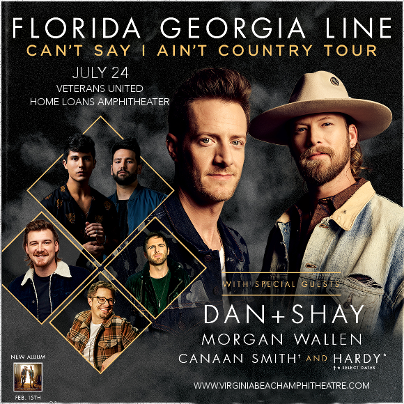 Florida Georgia Line, Dan and Shay & Morgan Wallen at Veterans United Home Loans Amphitheater