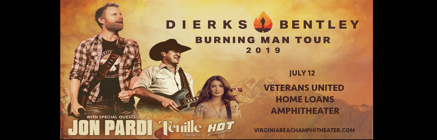 Dierks Bentley, Jon Pardi & Tenille Townes at Veterans United Home Loans Amphitheater