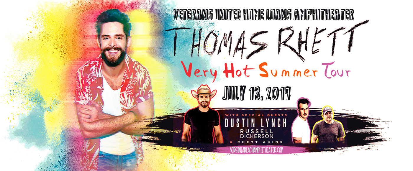 Thomas Rhett, Dustin Lynch & Russell Dickerson at Veterans United Home Loans Amphitheater