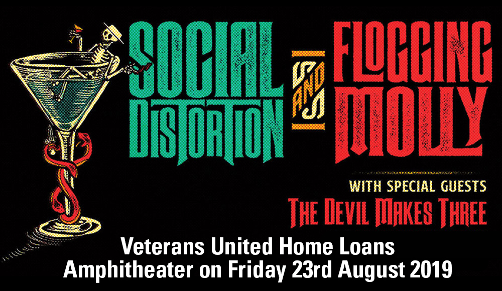Social Distortion, Flogging Molly & The Devil Makes Three at Veterans United Home Loans Amphitheater