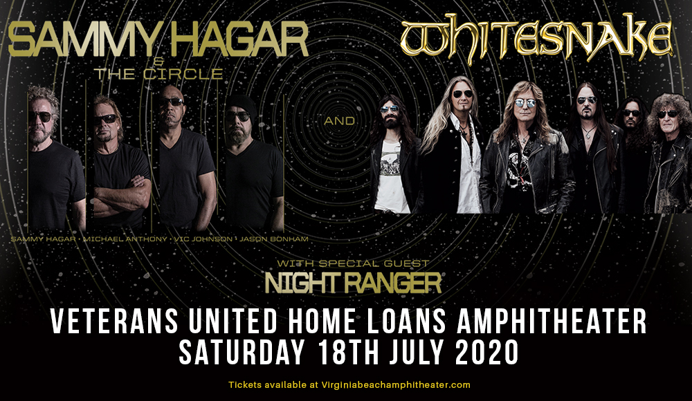 Sammy Hagar and the Circle & Whitesnake [CANCELLED] at Veterans United Home Loans Amphitheater