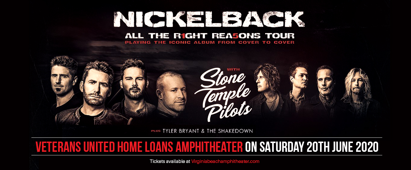 Nickelback, Stone Temple Pilots & Tyler Bryant and The Shakedown [CANCELLED] at Veterans United Home Loans Amphitheater