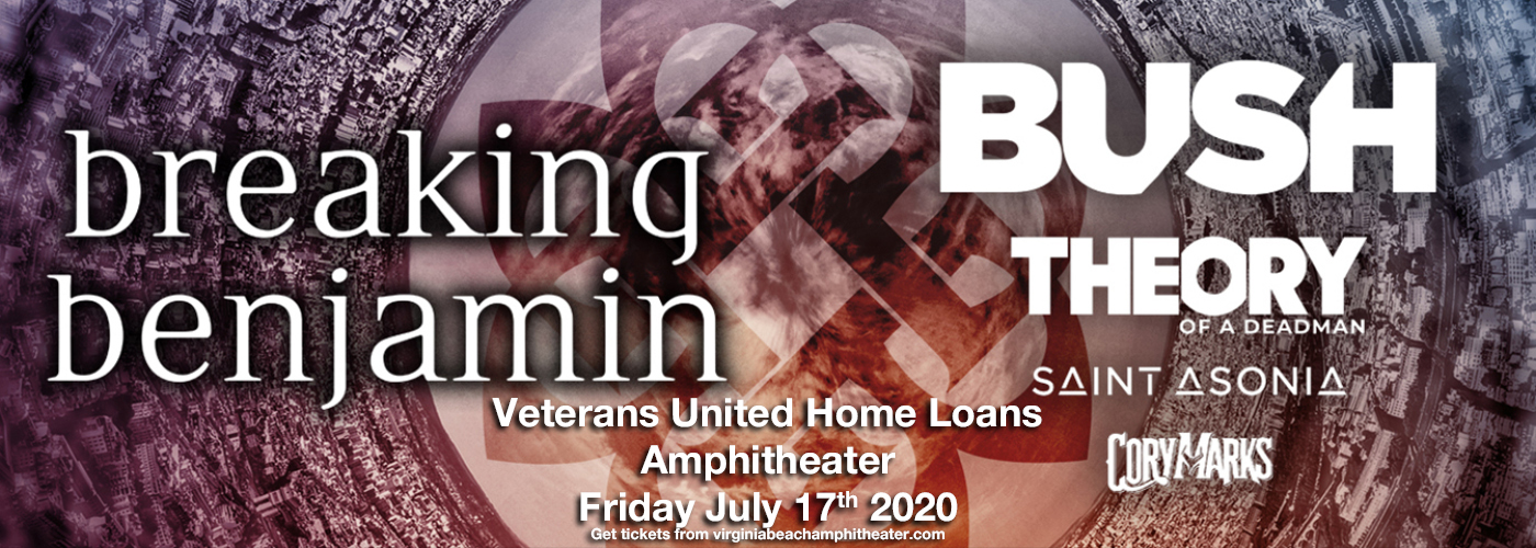 Breaking Benjamin & Bush [CANCELLED] at Veterans United Home Loans Amphitheater