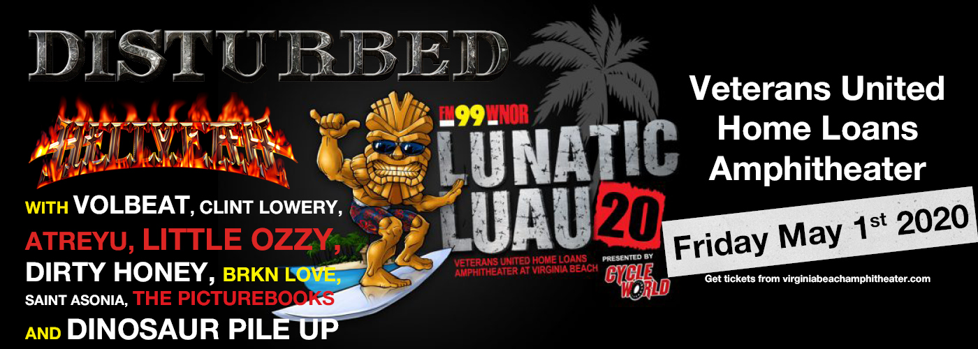Fm99 Lunatic Luau: Disturbed, Volbeat, Atreyu, Hellyeah & Dirty Honey [CANCELLED] at Veterans United Home Loans Amphitheater