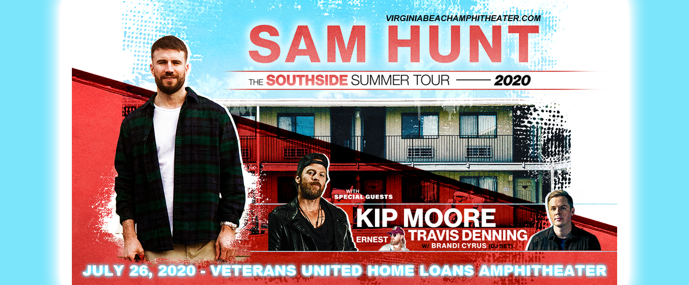 Sam Hunt, Kip Moore & Travis Denning [CANCELLED] at Veterans United Home Loans Amphitheater